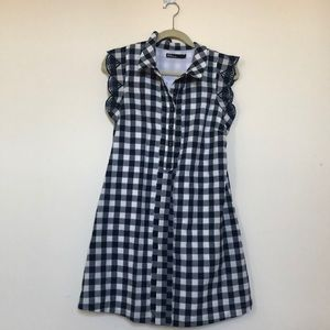 Gingham Anthro dress w/ pockets